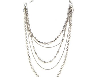 """Necklace clip """"Multi olives chains"""""""