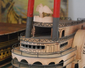 River Queen Vintage Replica Tin Boat