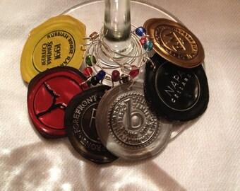 Six Recylced Wine Foil Tags