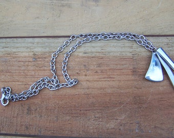 Upcycled Stainless Steel Necklace wih Pendant