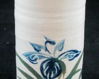 Handpainted Iris Tumbler