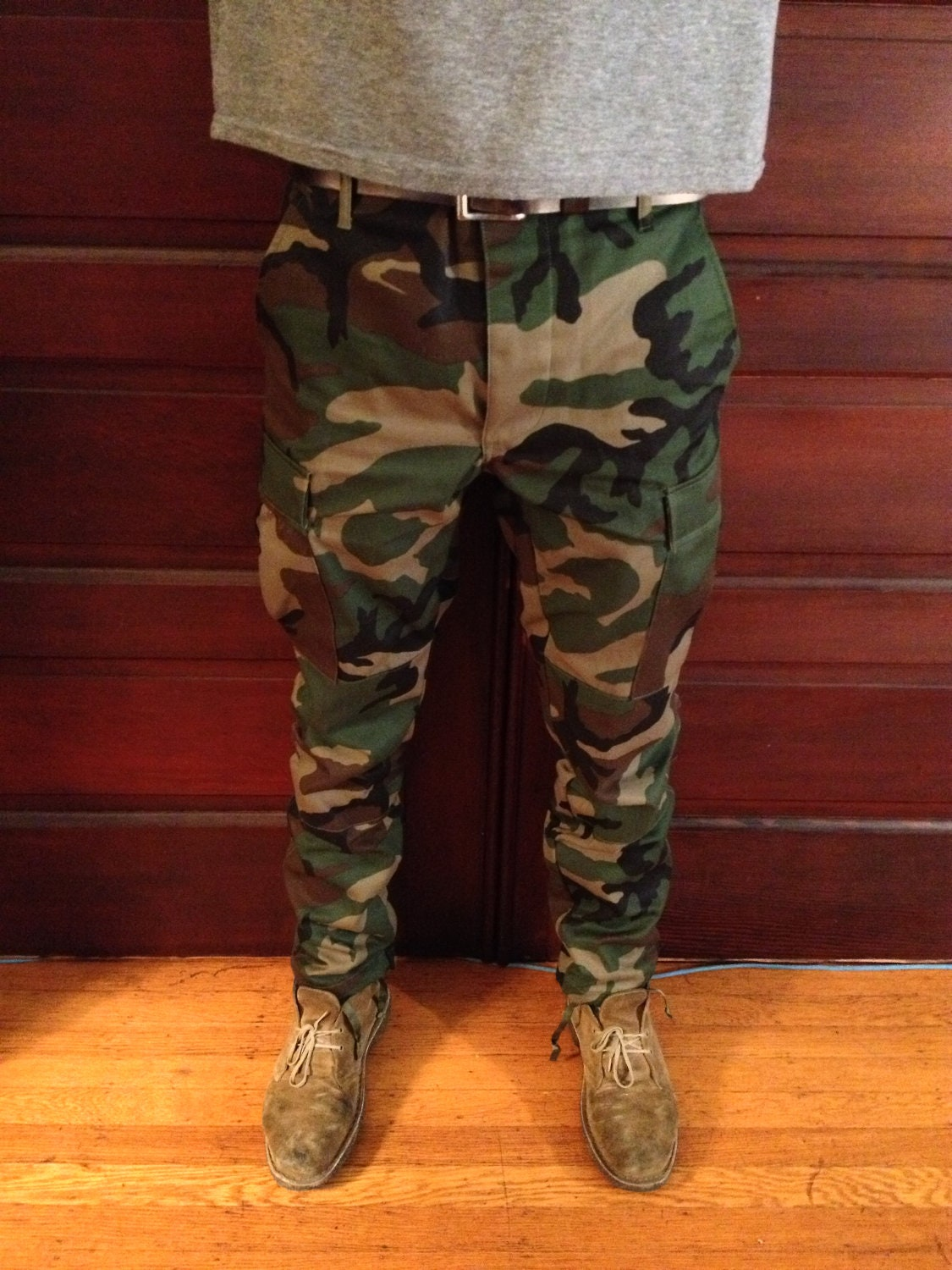 Custom Slim Tapered Authentic Camo BDU Pants