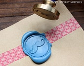 Buy 1 Get 1 Free - 1pcs Mustache Gold Plated Wax Seal Stamp (WS008)