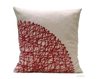Burguhdy Cushion. Geometric Cushion. Marsala Cushion cover.