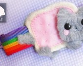 Nyan Cat Plush Keychain Cute Rainbow Poptart Cat