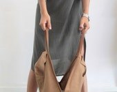 Camel  leather tote bag- Soft leather bag - Charley Bag