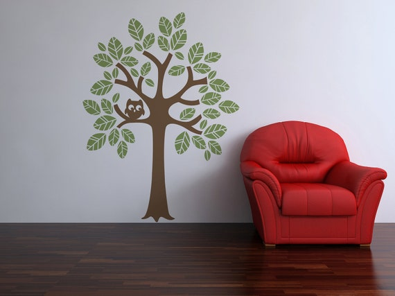 Two Color Tree Vinyl Wall Decal Size LARGE - Tree Wall Decal, Tree Art, Nursery Tree, Child Decal, Tree Wall Art, Child Tree, Vinyl Tree