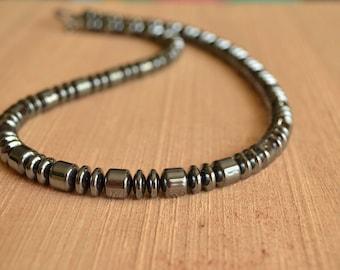 The Garett- Hematite Men's Necklace