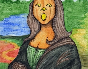Mourning Mona Lisa - Painting