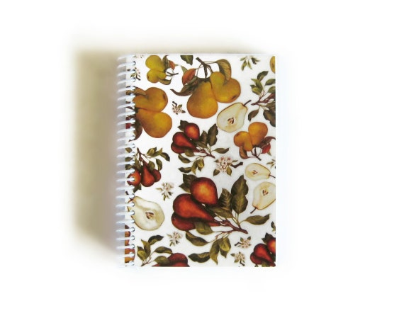 Pears and Blossoms - Spiral Notebook - 4x6in