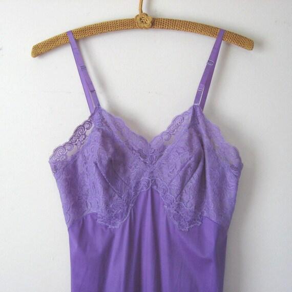Purple Slip Dress Vanity Fair Slip 1960s Lingerie Dyed Slip