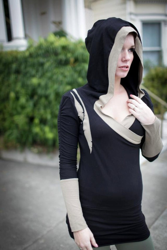 Nomadic Ballerina Hooded pullover Organic cotton and bamboo