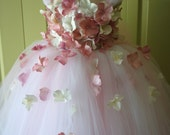 Flower Girl Dress, Tutu Dress, Blush Pink Dress, Ivory Dress, Flower Top, Photo Prop