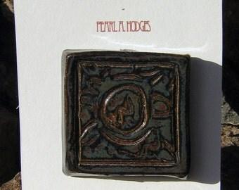Small Ceramic Tile - Black Octopus Eye