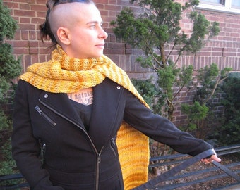 golden yellow striped scarf