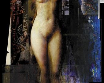 QUEEN Fine Art Print, Vintage Spalenka Art, Sensual, Nude, Fantasy