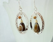 Earrings Botswania Agate