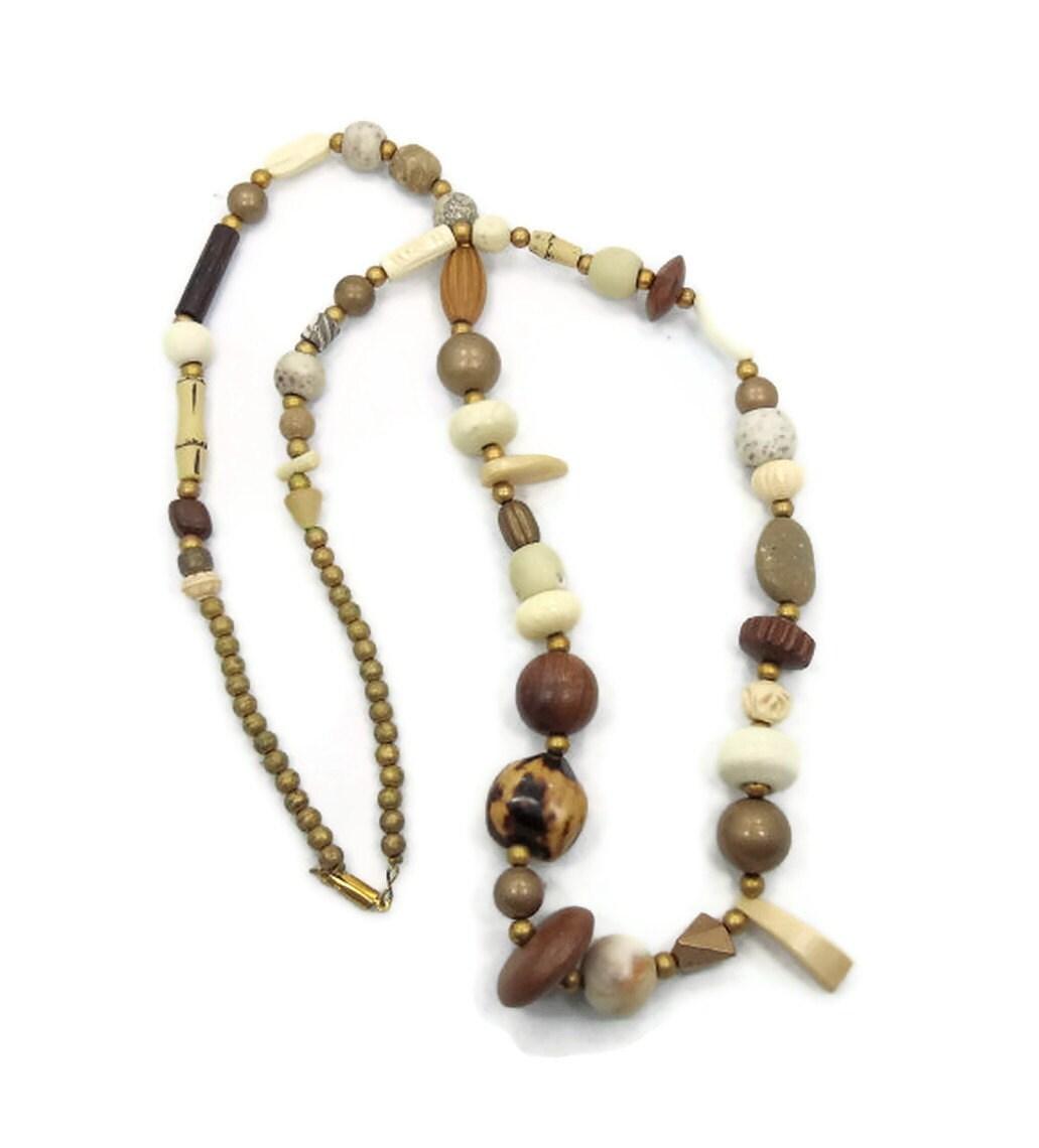 sale vintage necklace tribal ethnic chunky