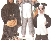 Simplicity 8331 Boys/Girls Costumes Bunny, Leopard, Kangaroo, and Panda Costume Sewing Pattern (Child 10-12) Vintage OOP