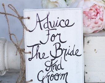 Wedding Guest Book Advice For The Bride And Groom Shabby Chic Barn Rustic Wedding Decor (Item Number MHD20052)
