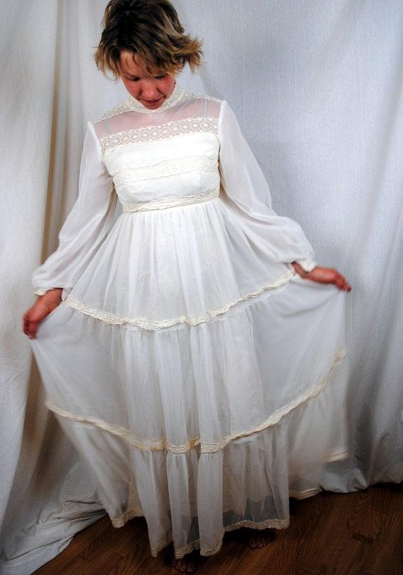 1960s Vintage Wedding Dress by Bridal Originals