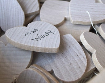 Guest Book Alternative & Wooden Keepsake Box (200 hearts)