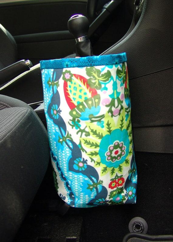 Designer Car Trash Bag in Amy Butler Cameo Harriets Kitchen
