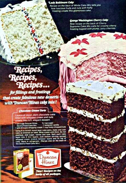 1960s Duncan Hines Cake Advertisement By Ecofriendlyfreckles