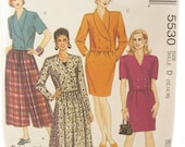 McCalls 5530 Dress and Double Breasted Jacket Sewing Pattern Bust 36