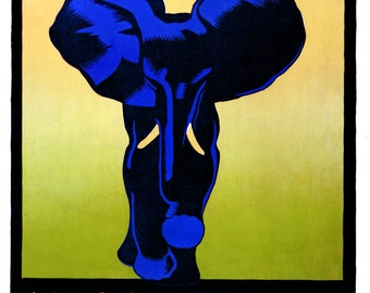 Vintage Giclee Reproduction WPA Poster of Zoo Elephant 16x20