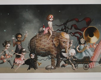 The Carnival - Large-  Limited Edition signed and numbered  6.5 x 35 Fine Art Print by Mab Graves -unframed