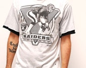 vintage RAIDERS nfl football 90s t-shirt made in usa