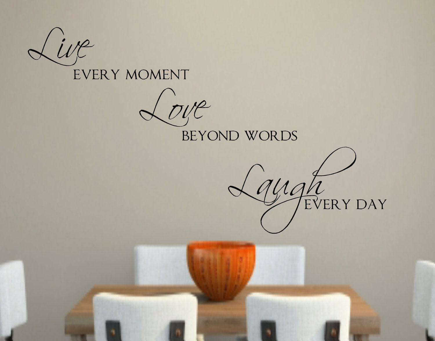 Live love laugh vinyl wall decal decor lettering words for the for Live laugh love wall art