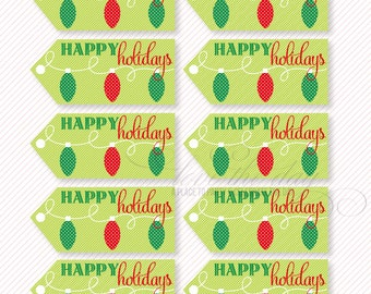 Christmas PRINTABLE Party Favor and Neighbor Gift (INSTANT DOWNLOAD) by Love The Day