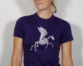 Zombie Pegasus on Vintage Deep Purple T-Shirt - Youth Medium
