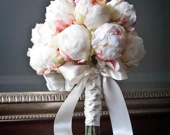 Ivory Peony Bud Wedding Bouquet - Peony Wedding Bouquet