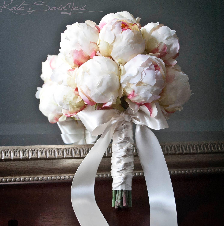 Ivory Peony Bud Wedding Bouquet