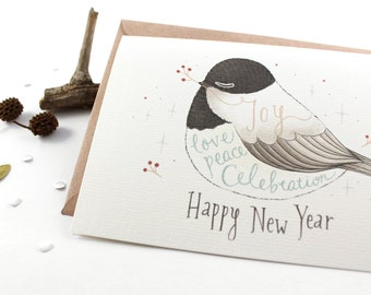 50% OFF - Holiday Cards - Happy New Year - 10 Greeting Cards