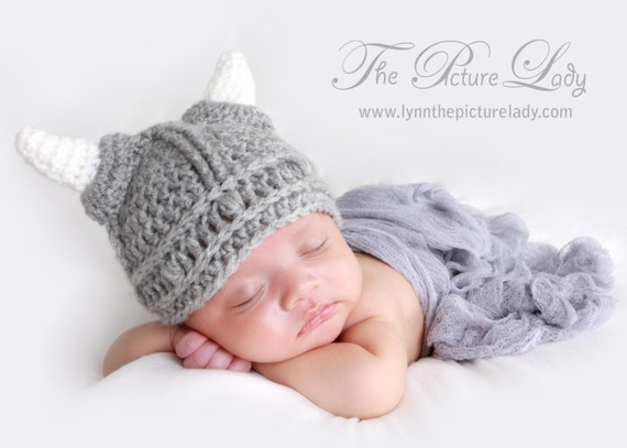 ecb3d1e8439 Baby Warrior Hat Newborn Viking Hat Baby Hat Crochet t