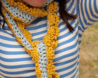 Crochet Scarf Pattern: Skinny Scarf for Women and Girls (PDF)