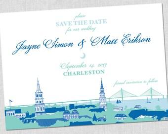 SMALL Charleston, South Carolina Save the Date Card