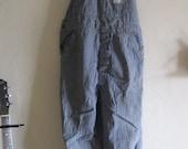 60s 'Big Mac' distressed striped workman overalls