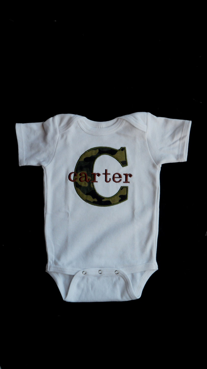 Monogrammed baby boy clothes camo baby boy by sassylocks on etsy