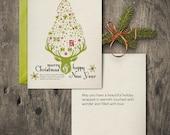 Xmas Tree Graphic Folded Card
