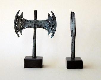 Bronze Sculpture Double Axe, Greek Minoan, Metal Art Sculpture, Museum Quality Art, Bronze Greek Art, Ancient Greece, Greek Mythology