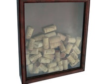 cork in a box (handmade wine cork shadow box)