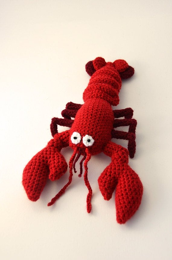 Red Lobster - Amigurumi - Seafood - Ocean theme - CROCHET PATTERN No.55