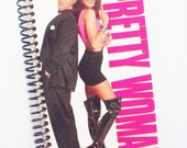 PRETTY WOMAN Notebook Journal upcycled spiral notebook Recyled julia roberts Richard Gere VHS box
