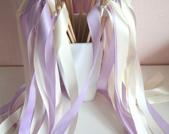 100 Wedding ribbon wands - party streamers