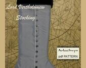 Men's Victorian Christmas Stocking PDF Pattern...Lord Vertholomew